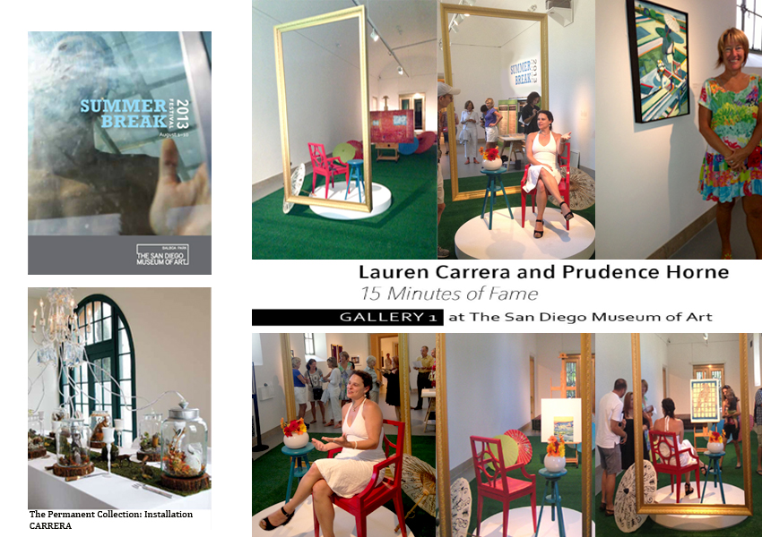 15 MINUTES OF FAME: San Diego Art Museum Installation